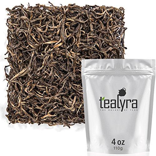 Tealyra - Golden Dragon Yellow Tea - Rare Unique Loose Leaf Tea - Organically Grown - Antioxidants Rich - Caffeine Medium - 112g (4-ounce)