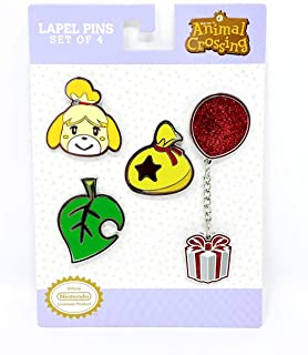Controller Gear Authentic and Officially Licensed Animal Crossing: Icons - Nintendo Lapel Pin Set - 4 Piece - Not Machine ...