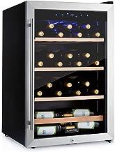 KLARSTEIN Vinamour - Cave à vin avec porte vitrée, commande tactile, pose libre, volume: 128 litres, 48 bouteilles, temp...