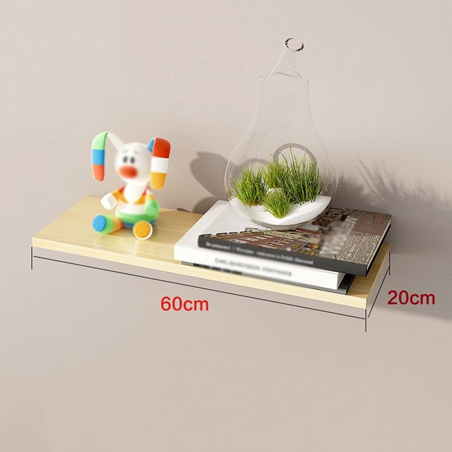 Chunlan Bookshelf Wooden Bookshelf Environmental Predection and Durability Easy to Clean Moisture-Proof Wall Bracket On The Wall Shelves Wall Decorative Frame (Size   60  20cm)