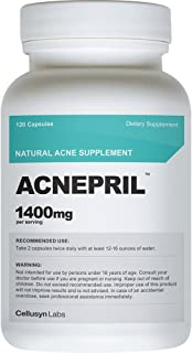 Cellusyn Acnepril Natural Acne Supplement, 1400 mg, 120 Capsules
