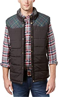 Weatherproof Mens Vintage Pieced Plaid Puffer Vest