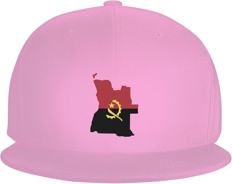Angola Flag Country of Africa Flat Brim Baseball Hat Cowboy Hat Sun Hat Unisex