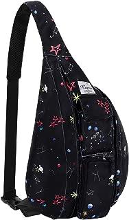 Kamo Chest Sling Backpacks - Fashion Crossbody Rope Bag for Hiking or Multipurpose Daypacks for Men Women Lady Girl Teens