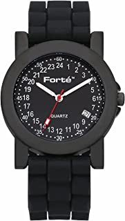 24 Hour Quartz Black Dial Men's Military Armed Forces Watch 2039M24-KKS - with Real Swiss Hour Movement-24