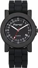 Forté 24 Hour Quartz Black Dial Men's Military Armed Forces Watch 2039M24-KKS - with Real Swiss Hour Movement-24