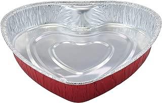 Disposable Aluminum Heart Shaped Baking Pan/Cake Pan/Goodies Pan #339NL (25)