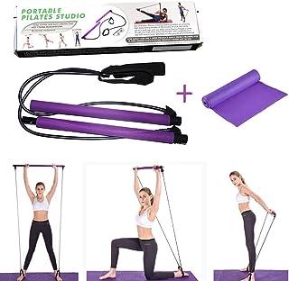 SOARRUCY Bandas de resistencia para pilates portátiles para mujer, bandas de entrenamiento, bandas de fitness, bandas de e...