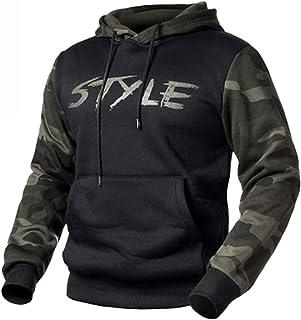 GUOQUN-SHOP Men's Sweatshirt Camouflage Long Sleeve Drawstring Hooded Pullover Hoodies Tops Jumper