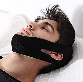 Salmue Cinturino per Il Mento Anti russare, Stop per Dormire Unisex snoring per russare Cintura per Il Sollevamento del Vi...