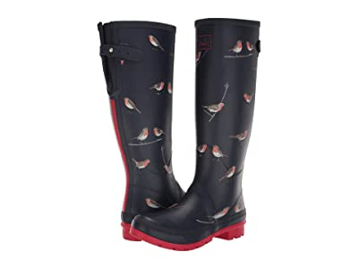 Joules Welly Print (Navy Robins) Women