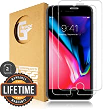 G-Armor Screen Protector for iPhone 8 Plus, 7 Plus, 6s Plus, 6 Plus - Tempered Glass Protective Screen Cover, Case Friendly, Anti Scratch (2 Pack)