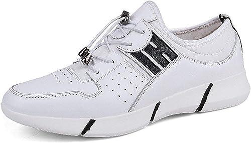 Qiusa Hauszapatos de Deporte de Deporte al Aire Libre con Cordones para hombres (Color   blanco, Tamaño   8 UK)