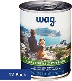 Amazon Brand - Wag Wet Dog Food Stew Recipe 13.2 oz (Pack of 12)