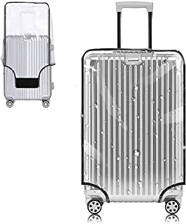 غطاء حماية حقيبة Yotako شفاف من مادة PVC 24 28 30 بوصة حقيبة الأمتعة ذات العجلات, شفاف, 30inch,