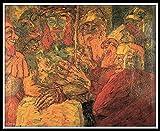 Pintar por Numeros para Adultos,DIY Pintura por números con Pinceles y Pinturas Kit para cepillos Principiantes Fácil sobre Lienzo con Pinturas y Pinceles - The Mocking of Christ by Emile Nolde