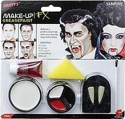 Ofertas Tienda de maquillaje: Incluye Set de maquillaje de vampiro, con colmillos, esponja, pintura para la cara y sangre en un tubo Disponible en solo un tamaño Nuestro equipo interno de seguridad asegura que todos nuestros productos son manufaturados y rigurosamente testados pa...