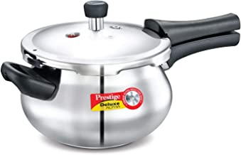 Prestige 3.3-Liter Deluxe Alpha Induction Base Stainless Steel Baby Handi, Small, Silver (PEE_20612_SIR)