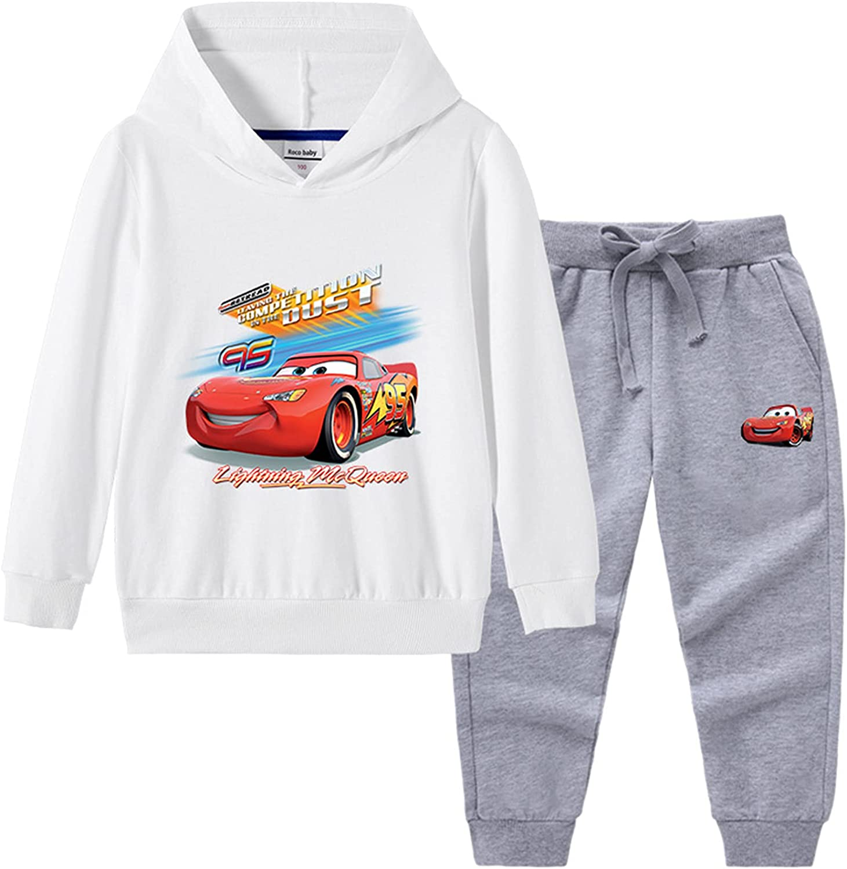 Ceomate Cars Lightning McQueen Boys Girls 2 Piece Pullover Hoodie Sweatshirt and Sweatpants Set