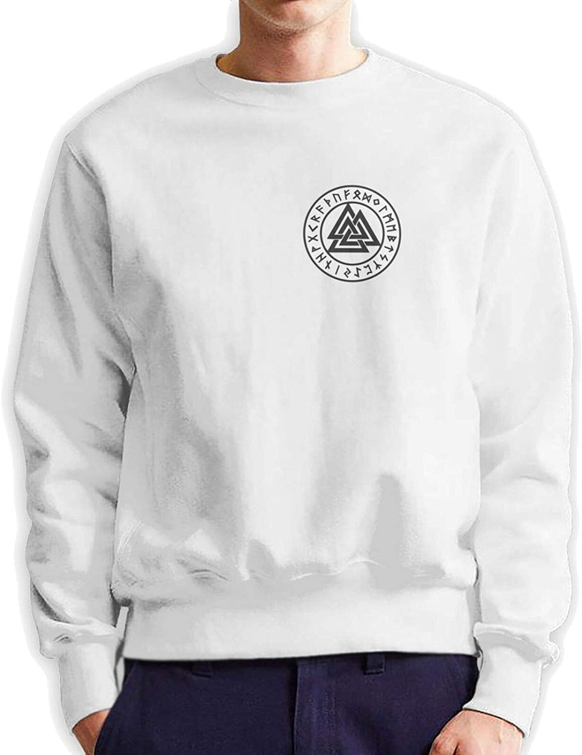outlet Valknut The Symbol Of Odin Mans Crew Neck Hoodie Authentic Quantity limited Cotto