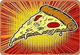 BIGYAK Cartel de pizza con aspecto vintage, 20 x 30 cm, para decoración de hogar, cocina, baño, granja, jardín, garaje, citas inspiradoras, decoración de pared