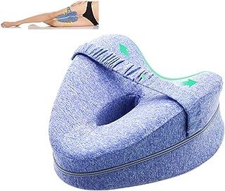 Almohada ortopédica para rodilla y pierna de espuma – Alivio del dolor para ciática, espalda, caderas, rodillas, articulaciones y embarazo.