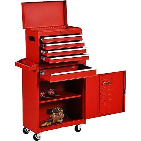 2Pc 9 Drawers System Plastic Box Multipurpose Organizer Tool Storage Cabinet