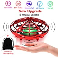 Flying Toys Drones for Kids, Hand Operated Ball Drone, Hands Free Mini Drone for Boys Girls...