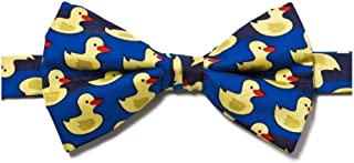 Mens Pre-Tied Adjustable Rubber Duck Bowtie - Blue - One Size Bow Tie