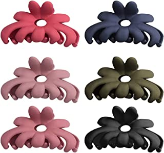 Tomaibaby 6pcs Flower Hair Claws Plastic Matte Ponytail Holder Hair Pins Bathing Shower Hair Clamp Decorative Headwear for...