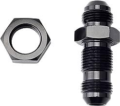 EVIL ENERGY 8AN Male Straight Bulkhead Flare Fitting Union Adapter Aluminum Black