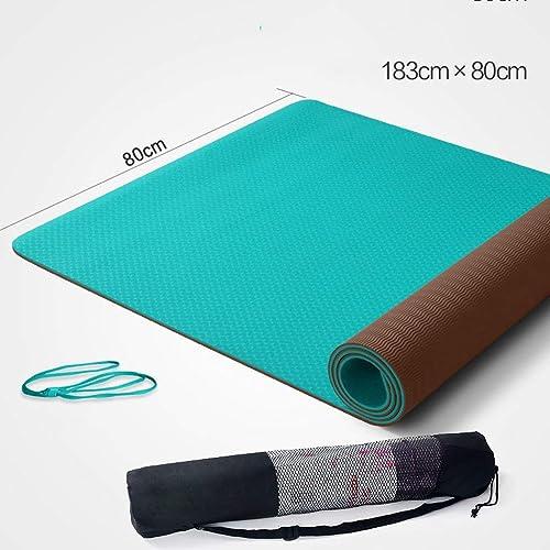 EU40 Tapis de Yoga Vert et Insipide Tapis de Yoga antidérapant Tapis de Fitness épaissi et élargi et épais Tapis de Musculation épais 6mm