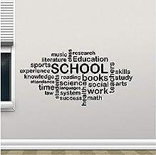 Pegatinas De Pared Educativas Pegatinas De Pared De Aprendizaje Decoración De Aula Educación Inspiradora Vinilo Arte De La...