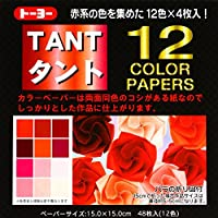 Tant Reds - 6 in (15 cm) 12 colors - 48 sheets by Toyo by Toyo