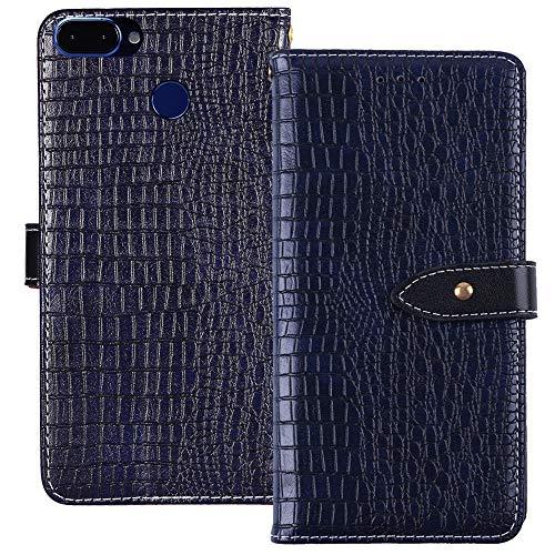 YLYT Flip Case Etui Blau Leder Tasche Schutz Hülle Für ROKiT IO Pro 3D 5.9 inch Handy Horizontale Standfunktion Magnetverschluss Strapazierfähiger Cover