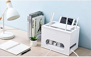 Caja de almacenamiento de cable de Router Wifi para cajas de televisión, reproductores de DVD, enchufes, enrutadores, cabl...