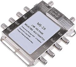 TISHITA Multi Switch LNB Satellite FTA 8 Outputs Combiner LNBF Dish JS-MS28(Silver)