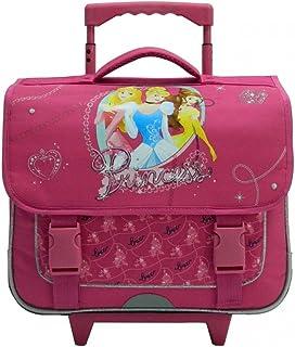Mochila rosa Princesas Disney Con ruedas. Ideal para niños en CE1/CE2.