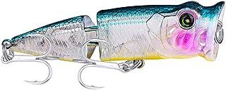 DOITPE Fishing Lures 8cm Plastic Hard Bait Popper...