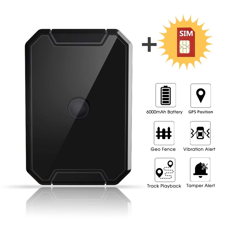 Localizador GPS Coche, Lncoon Portátil GPS Tracker Magnético Fuerte 6000mAh con GPS en Tiempo Real de Rastreo y Alarma Antirrobo para Coche Motocicleta Camiones Niños -Tarjeta SIM de Datos Incluida: Amazon.es: Electrónica
