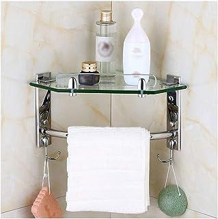 Multicouche coin salle de bains étagère en acier inoxydable Douche Panier de rangement de porte-serviettes, Rack étagère O...
