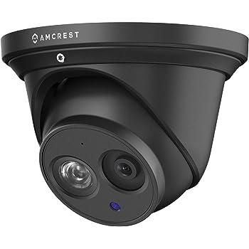 Amcrest UltraHD 4K POE Camera, 8MP Outdoor Security Turret PoE IP Camera, 3840x2160, 164ft NightVision, 2.8mm Lens, IP67 Weatherproof, MicroSD Recording (128GB), Black (IP8M-T2499EB-28MM)