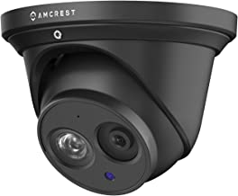 Amcrest UltraHD 4K (8MP) Outdoor Security IP Turret PoE Camera, 3840x2160, 164ft NightVision, 2.8mm Lens, IP67 Weatherproof, MicroSD Recording (128GB), Black (IP8M-T2499EB-28MM)