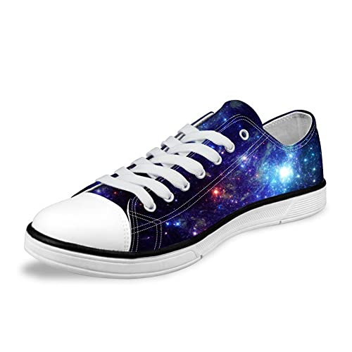 a52b121493 FOR U DESIGNS Stylish Unisex Galaxy Print Canvas Fashion Sneaker Casual  Lace-up Low Top
