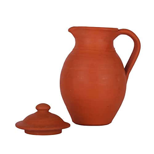 Village Decor Handmade Terracotta/Clay Classic Water Jug - Improves Metabolism and Virility