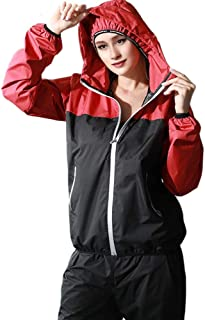 Voguad Sauna Suit Weight Loss Jacket Gym Fitness Workout Exercise Hot Sweat Body Shaper Long Sleeves Top