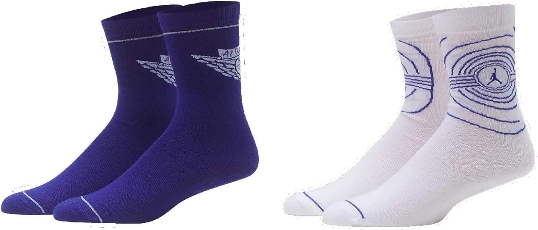 JORDAN High Crew Socks 2 PK Kids Shoe Size 5Y-7Y/Sock Size 9-11