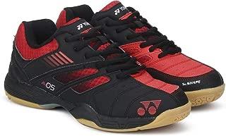 Yonex All England 05 Junior Badminton Shoes Black/Red
