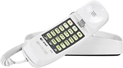 تلفنهای پیشرفته آمریكایی 210WH AT&T 210M تلفن همراه با سیم Trimline Basic ، هیچ منبع تغذیه ای لازم ، دیوار نصب شده ، سفید