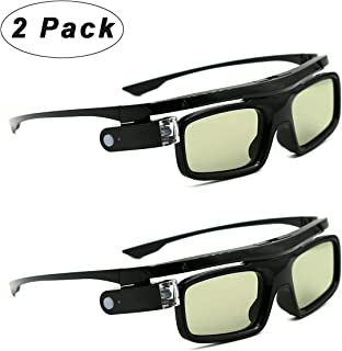 3D Glasses, Active Shutter Rechargeable Eyewear for 3D DLP-Link Projectors Acer, BenQ, Optoma, Viewsonic, Philips, LG, Inf...